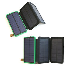 Outdoor Portable Power Bank 10000mAh Rechargeable External Battery Support Solar Fast Charging for iPhone Samsung HTC Sony LG.