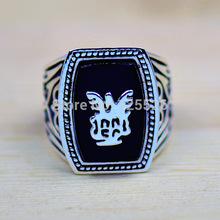 Handsome Antique Jewellery Vampire Diaries Jeremy Lapis 18Kt Gold GP Men Ring Sz 8-12 Gift(China)