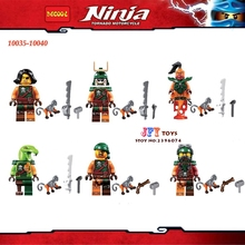 6pcs 10035-10040 Ninja Cyren Doubloon Nadakhan Flintlocke Clancee Bucko Pirates building blocks bricks toy for children juguetes(China)