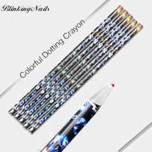 BlinkinNails Colorful Dotting Crayon Rhinestones Pencil for Nails Dotting Pen Set 5 Clay Tools Nail Art Tool Pen Diamond Dots(China)