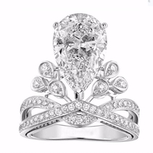 2016 New Fashion Flash Drill Crown Ring Jewelry Shiny Elegant Beauty Ring wholesale R0013(China)