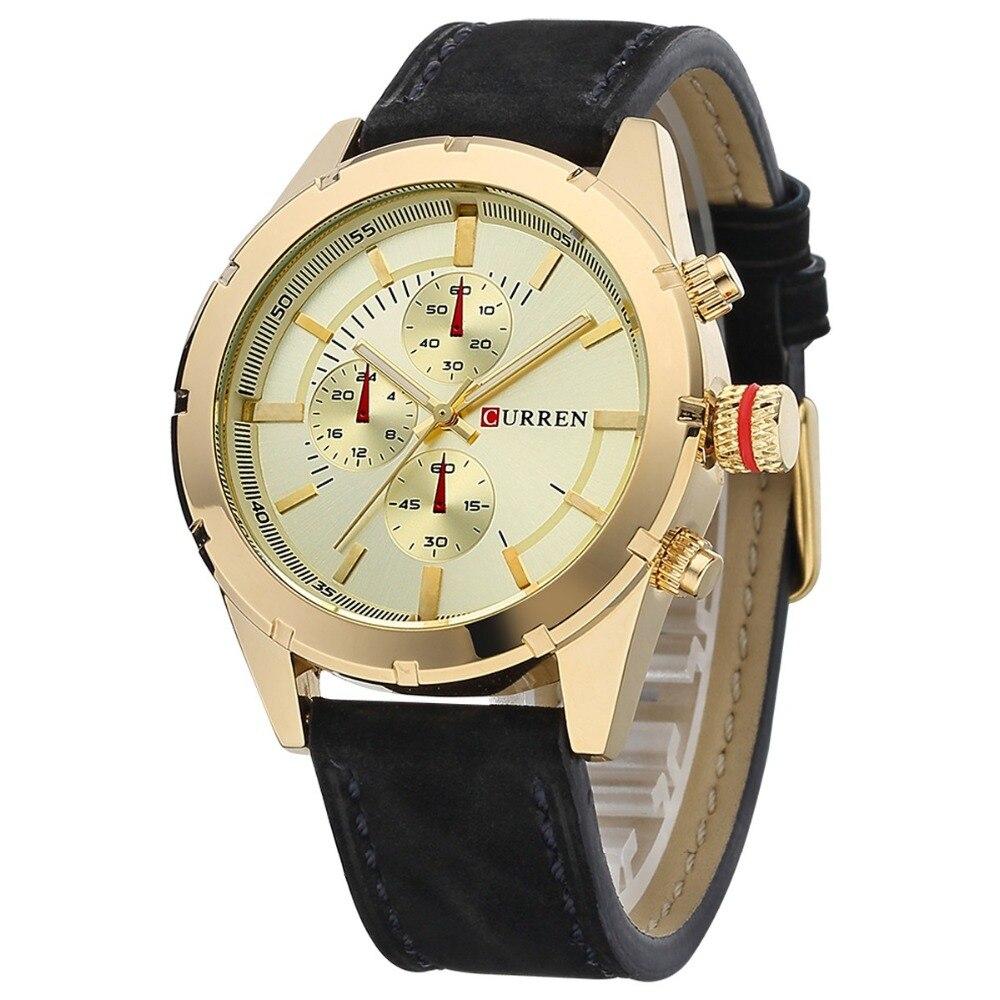 CURREN2016 men watch brand design fashion casual leather sport man wrist quartz male luxury watch 8154<br><br>Aliexpress