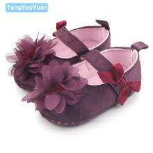 Beautiful Fashional Butterfly-Knot Flower Design Soft Sole Baby Girl Shallow Dress Shoes Newborn Crib Girl Shoes 0-15 Months(China)