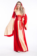 Gold Red Retro Palace Queen Victorian Vintage Halloween Costumes for Women