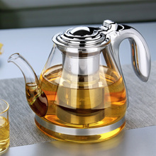 1100ml Handmade Chinese Teapot With Filter Heat Resistant Glass Tea Pot Infuser Stainless Steel Kettle Tea Pots Drinkware