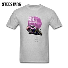 Man's Fred Merkel 1989 Hungaroring Motorcycle T-Shirt Crew Neck 100% Cotton T Shirt Short Sleeve New Teenage Tshirt