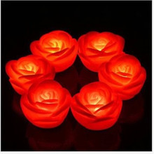Romantic Colorful LED Rose Night Light Bedroom Decor Wedding Decor New Year Valentine 's Day Creative Gift