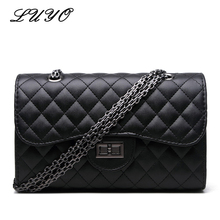 Buy Luyo Fashion Diamond Lattice Chain Leather Small Girls Shoulder Bag Women Messenger Bags Designer Channels Crossbody Bags for $12.66 in AliExpress store