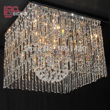 new chrome large contemporary chandelier crystal lighting hotel lobby chandelier length 80cm