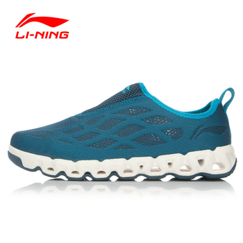 Li-Ning Men's Breathable Aque Shoes Outdoor Water Footwear Li-Ning Arc Mesh Sneakers Walking  Sports Shoes AHLL005 YXB023