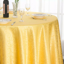 Wedding Outlet Classic Swirl Jacquard Damask Tablecloth Marriage Party Colorful Table Covers Decoration of Venue Outdoor Hotel