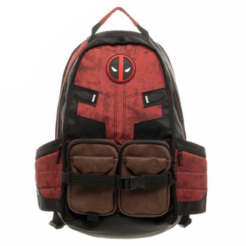 Marvel Deadpool Laptop Backpack Good Quality Same Day Shipping Womens Backpack  Bag  Make-up  <br>