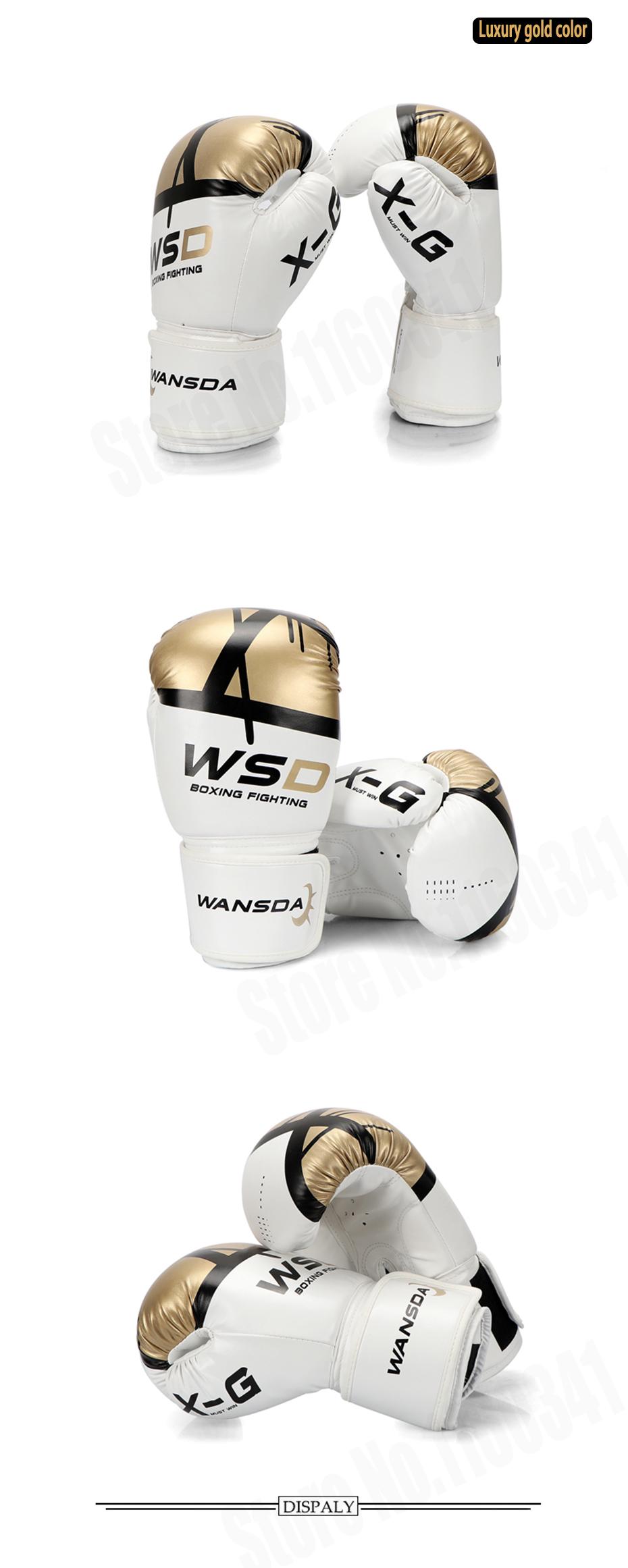 18 New Pink/Gold Men/Women Boxing Fitness Gloves for Sandbag Punch Training MMA Muay Thai Sanda Karate Mitt Equipment 4