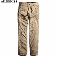 2017 Men Long Pants Military Uniform Style Casual 100% Cotton Hip Hop Trousers Cargo Pants Working Trousers Male Pants XT270