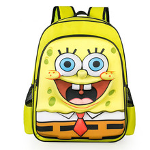 3D SpongeBob Kids Primary School Backpack Children Boys Girls Cute Cartoon Student Backpacks Daypack Mochila Bag