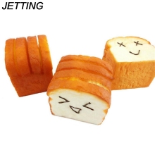 1 Kawaii jumbo Toast Bread Squishy Super Slow Rising holder Scent Soft Bun Charms Food Collectibles Toys Phone Straps(China)