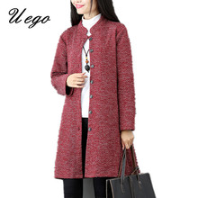 2017 Fashion Mandarin Collar Cardigan Cotton Pockets Autumn Coat Single Breasted Women Spring Casual Outwear Coats(China)