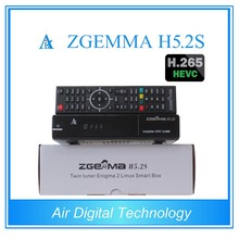 5pcs/lot  HEVC/H.265 Satellite Receiver&Decoder ZGEMMA H5.2S BCM73625 Linux OS Enigma2 Dual Core DVB-S2+S2 Twin Tuners HDTV Box