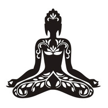 Yoga movement pattern wall sticker home decor sport fitness wallpaper sold in Europe and America yoga decals 43cm x 45cm(China)