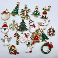 19pcs/lot Metal Alloy Charm DIY Christmas Drop Ornaments Tree Decorations Christmas Gift Supplies(China)
