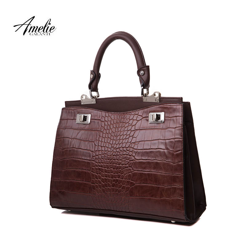 AMELIE GALANTI new totes bags women handbags vintage famous brands design serpentine hard fashion Interior compartment 2017<br>