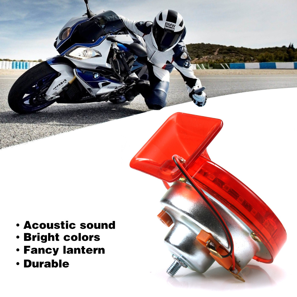 Acouto 12V 139DB Loud Electronic Snail Ultra Compact Dual Air Horn for Motorcycle Yacht Boat Scooters ATVs