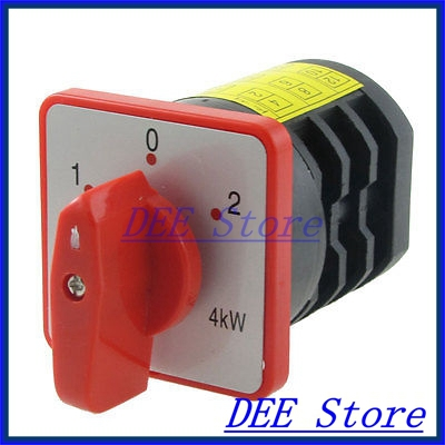 4kW AC 380V 20A 12 Screw Terminals 3 Position Universal Cam Switch<br><br>Aliexpress