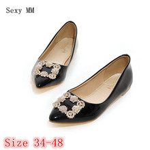 Shoes Woman Slip On Shoes Loafers Girl Ballet Flats Women Flat Shoes Soft Comfortable Plus Size 34 - 40 41 42 43 44 45 46 47 48(China)