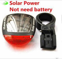 Solar Power LED Bicycle Lights Bike Rear Tail Lamp Light Bike cycling Safety warning Flashing Light Lamp Red TL0306
