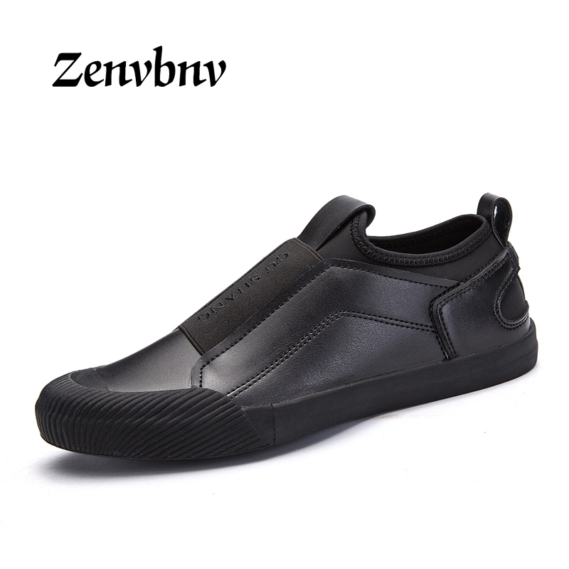 ZENVBNV Men Casual Shoes Autumn winter PU Leather Slip On Loafers Fashion Comfortable Flats Men Shoe Luxury Men Loafers 44 size<br>