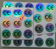 Hologram Sticker CE Certificated Label Sticker Diameter 1cm 10*10mm 500Pcs/lot Waterproof Laser For Electronic & Home Appliance(China)
