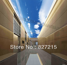 MO-0191/ Blue Sky /Print Ceiling tiles /PVC Stretched Ceiling Film/Home or Ceiling Decoration/Function as Ceiling Panel