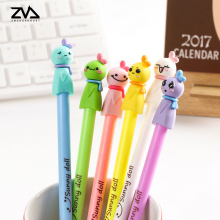 2pcs/lot Kawaii Creative Sunny doll Gel Ink pens Student signature pen Student Office caneta child Reward Gift caneta stationer