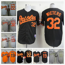 22 Jim Palmer 32 Matt Wieters throwback Jersey white gray red black(China)