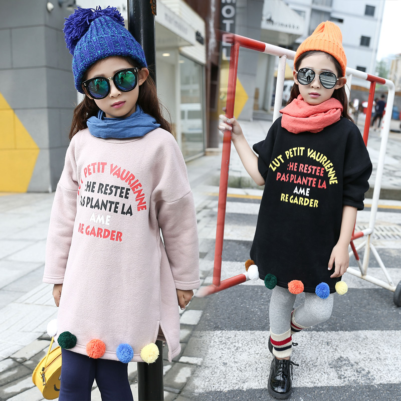 Dress For Girls Winter Wear Teenager Baby Girls Clothes 5 6 7 8 9 10 11 12 13 Years Long Sleeve Casual Letter Dress For Kids<br><br>Aliexpress