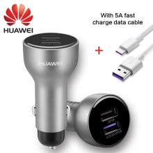 Car Fast Charger HUAWEI P10 Plus mate9 Pro SuperCharge Quick Charging Adapter USB3.1 Type-c Cable 5A Type C Data Cabel Original