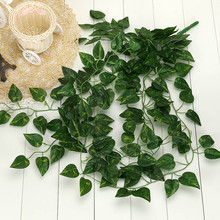 New Qualified Artificial Fake Hanging Vine Plant Leaves Garland Home Garden Wall Decoration D919(China)