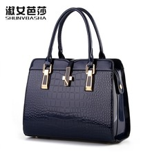 100% Genuine leather Women handbags 2017 new light leather bag female crocodile high-grade shoulder bags of western style bag