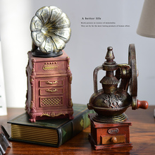 style coffee machine shop decoration retro bar decorated living room setting display props Home Furnishing phonograph