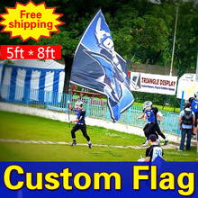 8ft*5ft Freeshipping Custom Flags Double Sided Flag Any size Any Color Any Logo FlagsSport Flags Corporate Flags 8ft*5ft(China)
