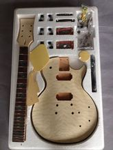 LP Guitars Mahogany Body Unfinished Electric Guitar Kit With Flamed Maple Top Dual Humbuckers