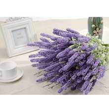 New Purple 12 Heads Vivid Artificial Flowers Bouquet Home Wedding Garden Decor
