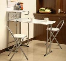 Furniture. White table. Eat desk and chair, desk. Collapsible 1 table, 2 chairs