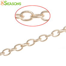 8SEASONS Link-Opened Cable Chains Findings rose gold color 4mm x 3mm,10M (B32551)
