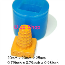 XYL124 Ice Cream Cone Silicone Mold Fondant 25mm - Chocolate Candle Fimo Polymer Clay Mould, Cabochon Mold Fake Sweet Mold