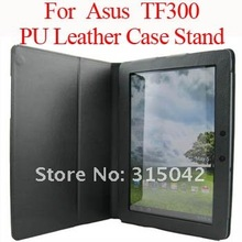Tablet Touch Pen & PU leather case for Asus Transformer Pad TF300,For Asus TF300 leather cover,black color,free shipping