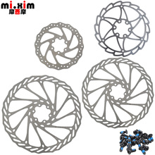 mi.Xim Mountain Folding Bike 140/160/180/203mm Six Holes Bicycle Disc Cycling Disc Brake Rotors with T25 Screws
