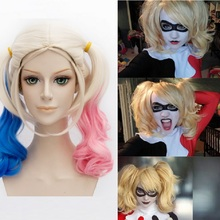 adult wig costumes cosplay woman costume black and red lace accessories wigs cosplay joker and harley quinn suicide squad