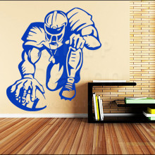Art colorful Design house decor Vinyl Rugby Player Wall sticker home decoration cheap American football sports athlete decals