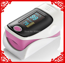 PINK  CE & FDA OLED Fingertip Pulse Oximeter alarm Spo2 Blood Monitor 4 directions & 6 modes! 5 color +Free shipping
